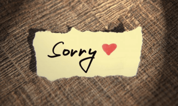 A bit of an apology