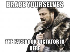 The dictatorship of Facebook